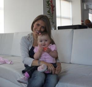 María Fernanda Liévano y su hermosa Luciana de 9 meses