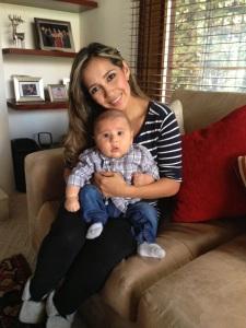 Dayana Bravo y su bebé Jerónimo de 4 meses