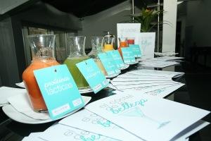 El cóctel de la  belleza, receta creada exclusivamente para este evento Fedco y las marcas Bella Aurora y Lullage