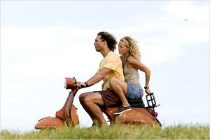 """Matthew McConaughey y Kate Hudson  en la película """" Fool's Gold"""""""