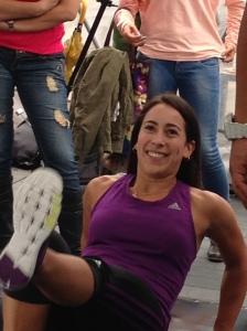 Mariana es un ejemplo de disciplina, esfuerzo y constancia; aquí en pleno entrenamiento con Alex Peña