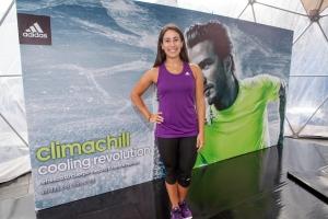 Mariana Pajón luciendo una de las prendas de la colección Adidas Climachill