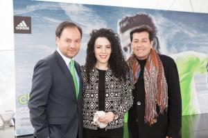 Aquí con Juan Carlos Giraldo periodista especializado en moda y jurado  en el Desafío Fashionista Latinoamérica.