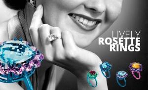 Aquí lo clásico toma valor, evoluciona y  se moderniza para brindar el anillo roseta pero ahora en colores muy llamativos, todos están divinos!