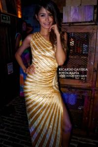 La Top Model María Claudia Cueter luciendo un traje de la diseñadora María Del Pilar Agámez.