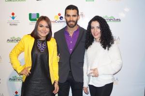 Aquí con la diseñadora Karoll Pérez y el Actor Pedro Pallares