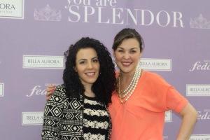 Aquí con la bellísima María Alejandra Ramírez